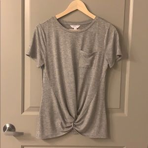 Time and Tru grey knotted Tee